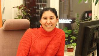 Nasrin Ebrahimi, en av de intervjuade nyanlända tjejerna i rapporten.