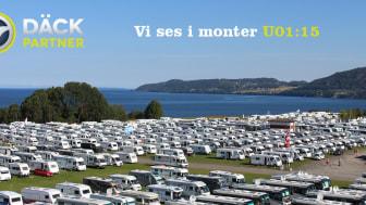 Elmia Husvagn & Husbil i Jönköping i september, Däckpartner är på plats.