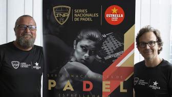 "Project managers SNP Estrella Damm: Olli Patronen/CEO OPProductions & Pedro de Felipe/CEO ""El Clasico"" golf & padel charity."