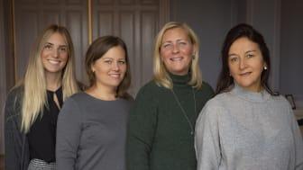 The recruitment team consists of Jenny Högblad (marketing coordinator), Sandra Gunnarsson (recruitment manager), Pia Hammarsten (recruiter) and Helene Enström (recruiter).
