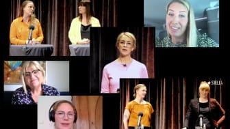 Frida Nilsson, Karoline Nordefors, Lina Skandevall, Lotta Bonthelius, Sofia B Olsson, Titti Qvarnström och Charlotta Ranert på Stellagalsn Forum på Folk Mat & Möten i Malmö.
