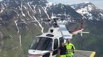 Malin Malmberg och Milan Stokuca (båda Bengt Dahlgren AB) i Norge. Foto: Privat