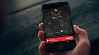 Genom Widrikssons leveransportal kan Coop Onlines kunder följa leveranser av matkassar till hemmet i realtid.
