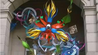 Flower sculptures bring Eastern spice to Bury