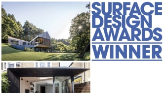 Kebony Holz gewann bei den prestigeträchtigen Surface Design Awards 2018  in zwei Kategorien: Sustainable Exterior Surface und Housing Exterior Surface