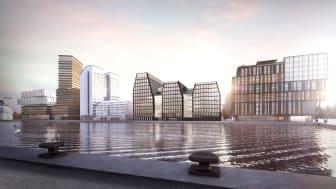 Visionsbild The Dockworks, Värtahamnen