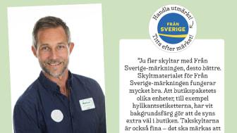 Markus Wahlgren är stormarknadschef på Stora Coop i Visby på Gotland, och är en av de som utvärderat Från Sveriges nya butiksmaterial.