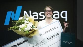 Anders Wall Award for Exceptional Entrepreneurship på 25.000 dollar till Willem Sundblad