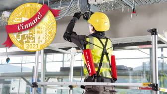 Exoskelett vinner Nordbyggs Guldmedalj för årets mest innovativa produktnyhet 2021 (Foto: Hilti)