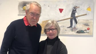 Konstnären PG Thelander i samspråk med Gunhild Stensmyr, Konsthall Tornedalen