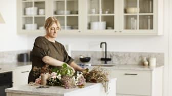 Vedum i väldoftande samarbete med floristen Linda Hansson