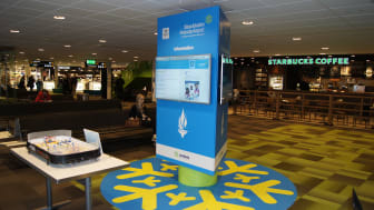 Se OS-sändningarna på Swedavias flygplatser