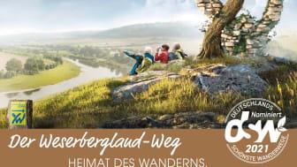 Postkartenmotiv für den Weserbergland-Weg zur Publikumswahl 2021