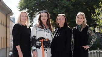 Fr vänster Chicie Lindgren, Sanna Gebeyehu, Hanna Nova Beatrice och Sara Ek.