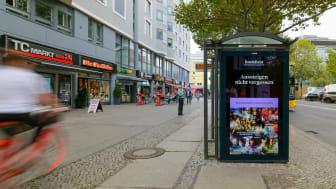 Exempel på en av BookBeats reklamkampanjer på den tyska marknaden under det tredje kvartalet