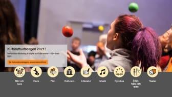 Årets regionala Kulturutbudsdag är digital 10-24 mars