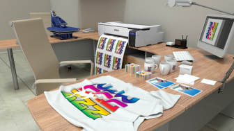 High-quality textile printing right out of the box for promotional products, fashion apparel and home décor furnishings