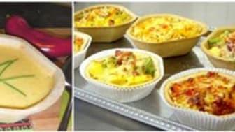 Füllett, knusprrige Cups zum mitbacken oder als essbare Suppenschale