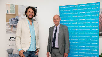 Alex Bratu (JYSK) si Pieter Bult (UNICEF)