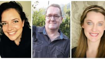 Sind nominiert für den Ehrenfelix 2018: Claudia Neumann, Jörg Gundelach und B. Susanna Zsoter (v.l.n.r.)