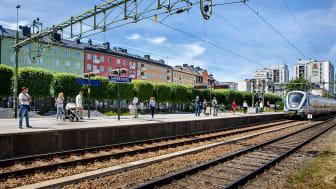 Sundbybergs pendeltågsstation idag, foto: Mikael Ullén