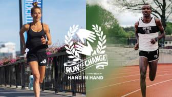 Mustafa Mohamed och Charlotta Fougberg springer Stockholm Marathon och samlar in pengar till kvinnor i löpträningsmeckat Iten i Kenya genom kampanjen Run for Change with Hand in Hand