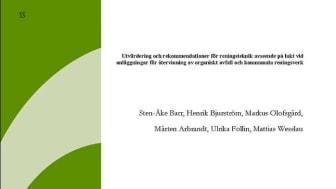 SVU-rapport C SP2013-WR55: Utvärdering och rekommendationer för reningsteknik avseende på lukt ... (Avlopp & Miljö)