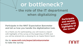 Kickstarter or bottleneck? NNIT Expectation Barometer