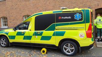 Ambulansen rycker ut tillsammans med högskolan