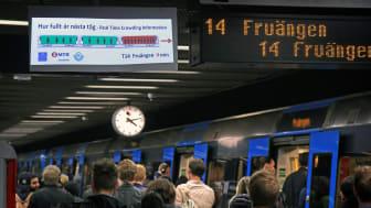 Trängseln i tunnelbanan kan åtgärdas