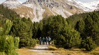 Wandern im Schweizerischen Nationalpark in Graubünden (c) Schweiz Tourismus, Nicola Fürer