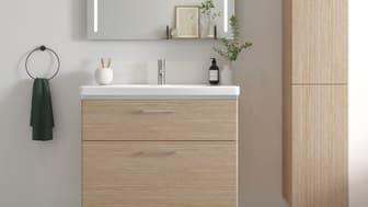 Avain kylpyhuoneen juhlatunnelmaan on puhtaus. Kun tila on siisti, sisustuselementtejä on helppo lisätä maun mukaan.