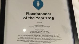 Luleå är Placebrander of the Year 2015 motiveringen
