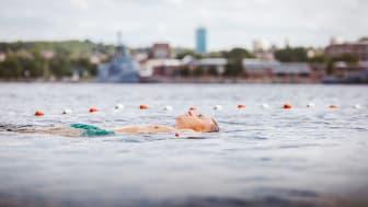 Die Teilnehmer*innen werden durch die Ostsee vorbei an den Leuchttürmen in die innere Kieler Förde schwimmen.