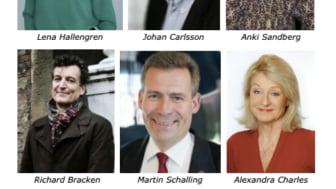 Medverkande: Lena Hallengren, Johan Carlsson, Anki Sandberg, Richard Bracken, Martin Schalling och Alexandra Charles von Hofsten
