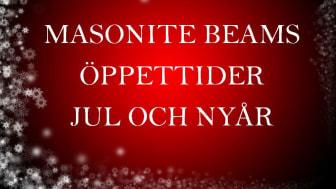 Masonite Beams öppettider jul och nyår