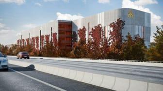 Arkitektbild Mobilitetshuset på Medicon Village