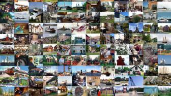 Bildcollage - Arbetslivsmuseer i Sverige