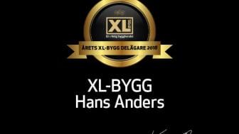 Årets XL-BYGG delägare 2018 är XL-BYGG Hans Anders!