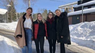 STUDENTENE: Julie Hval, Ida Tangen, Elena Gonder og Martine Hillestad Stokke.
