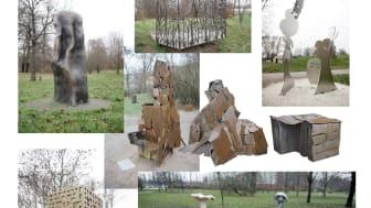 Barnens skulpturpark består nu av sex olika konstverk.