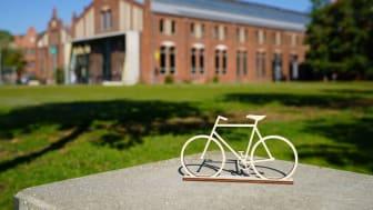 In dieser Woche erreicht die Sommerradtour der sieben Hochschulen, die vom Bundesverkehrsministerium geförderte Stiftungsprofessuren für den Radverkehr einrichten, den Campus der TH Wildau. (Bild: Mareike Rammelt)
