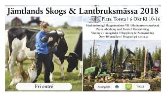 Den 6 oktober anordnas Jämtlands Skogs & Lantbruksmässa på Torsta i Ås.
