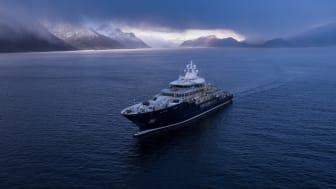 Superyachten Ulysses er spesielt utvikla for lange ekspedisjonar i røffe farvatn.