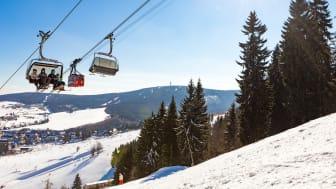 Hoch hinaus auf den Fichtelberg geht es in der Stadt Kurort Oberwiesenthal