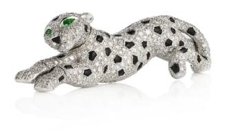 """Sjælden Cartier """"Panthère""""-broche. Vurdering: 450.000-500.000 kr."""