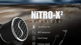 NiTRO-X2 är en ny IPX7-klassificerad trådlös sport- och aktivitetshörlur som är överlägset smidigast i klassen.
