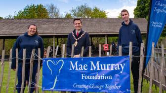 Cllr Johnston welcomes the Mae Murray Foundation to Carnfunnock Country Park to enjoy a session of fun and activity.