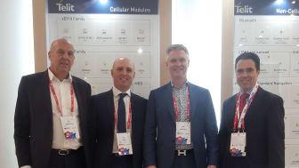Telit og AddSecure i IoT-partnerskap. Fra venstre til høyre Sten Olsson, AddSecure; Tim Clayton, Telit;  Stefan Albertsson, AddSecure,  Carlos Perez, Telit.