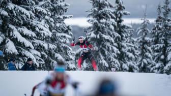 Thekla Brun-Lie endte på en 14. plass i gårsdagens sprint på IBU Cup Sjusjøen. Foto: Sondre Eriksen Hensema/Norges Skiskytterforbund